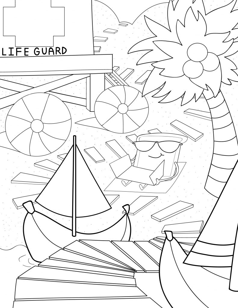 Waffle Smash coloring page of Banana Beach