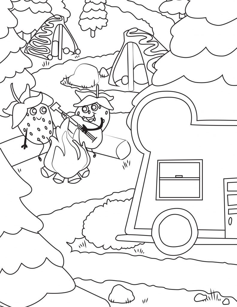 Waffle Smash coloring page of Camp Crepe