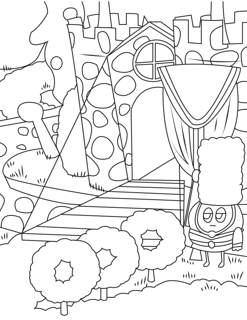 Waffle Smash coloring page of Fruity Fortress