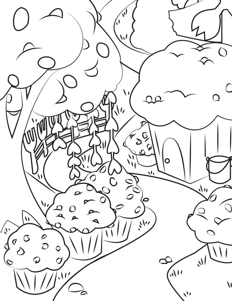 Waffle Smash coloring page of Muffin Meadows