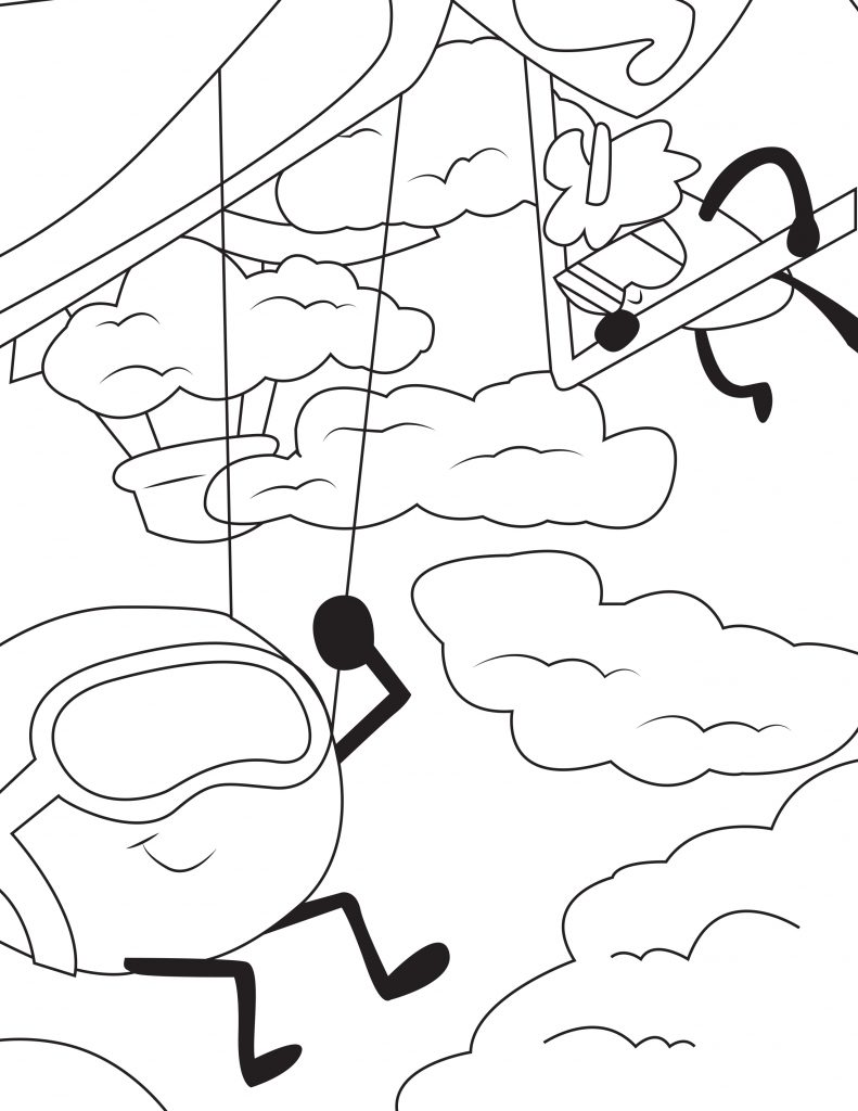 Waffle Smash coloring page of Skydivers