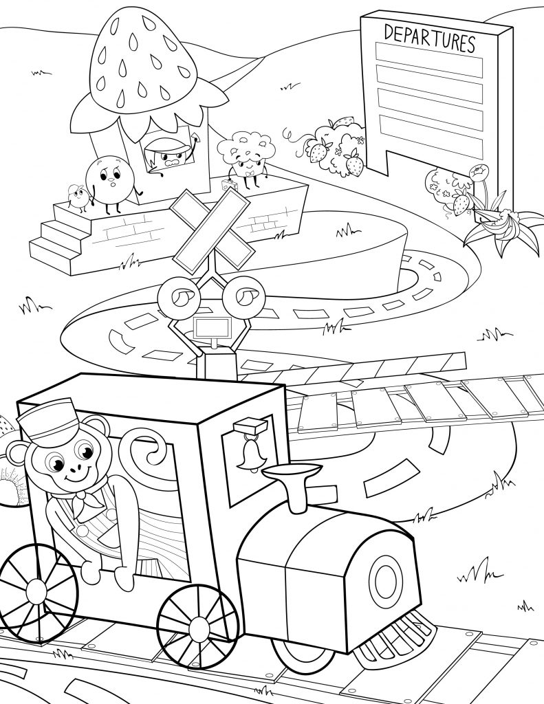 Waffle Smash coloring page of Strawberry Station