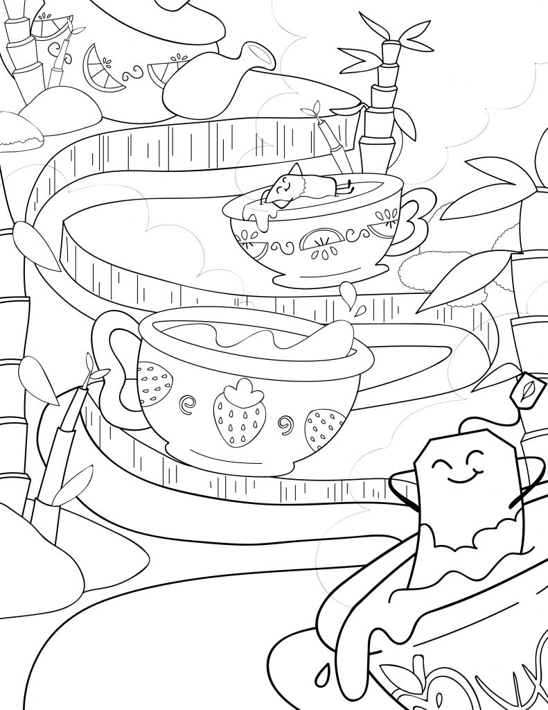 Waffle Smash coloring page of Sweet Tea Sauna