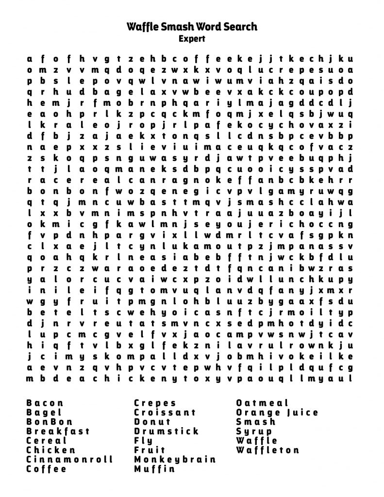 Waffle Smash Word Search Expert