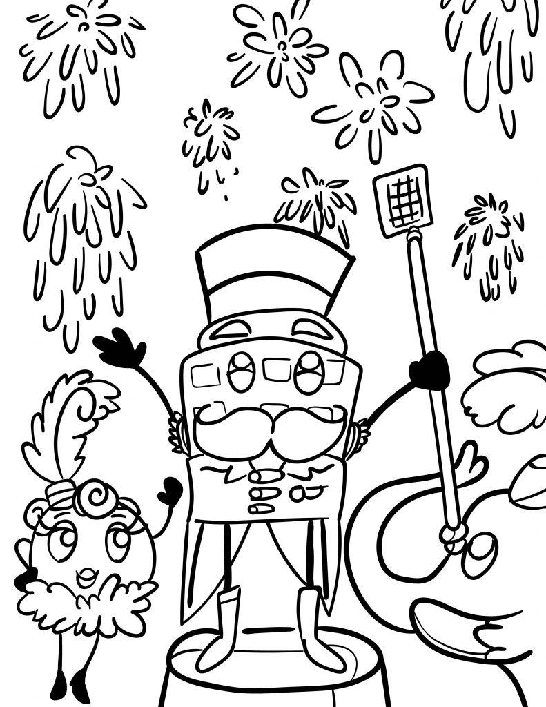 Waffle Smash coloring page of Circus