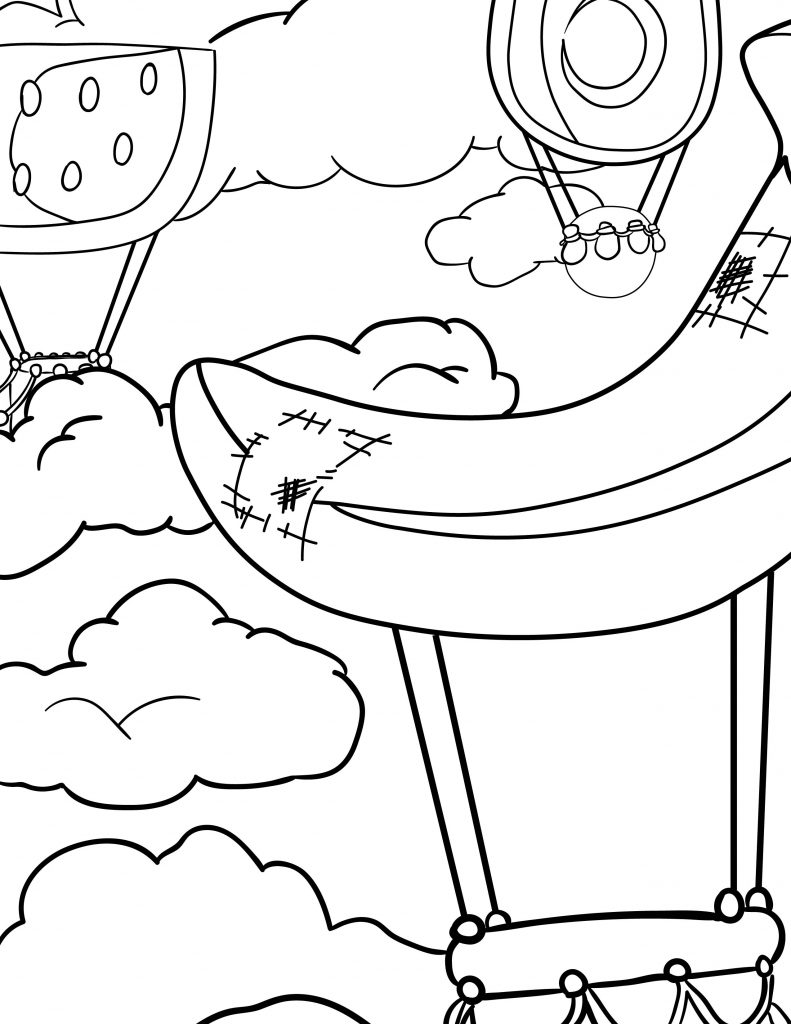 Waffle Smash coloring page of Hot Air Balloon