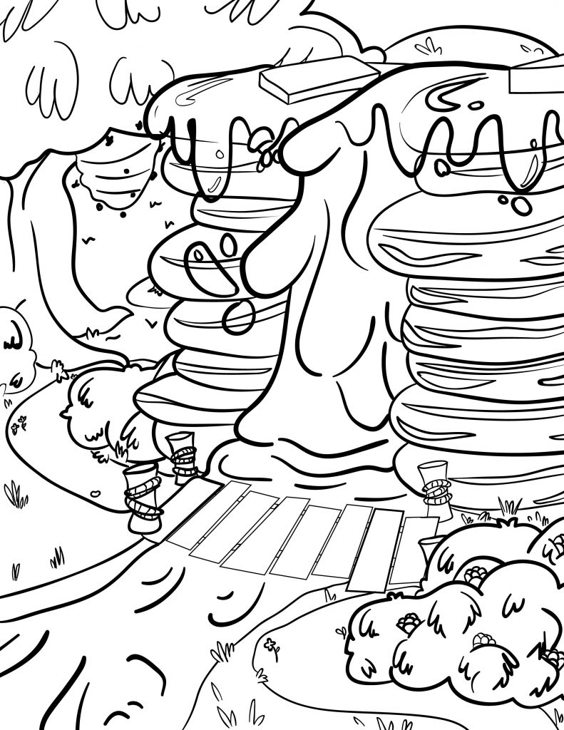 Waffle Smash coloring page of Maple Falls