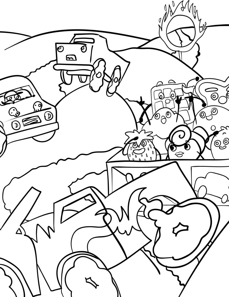 Waffle Smash coloring page of Monster Truck