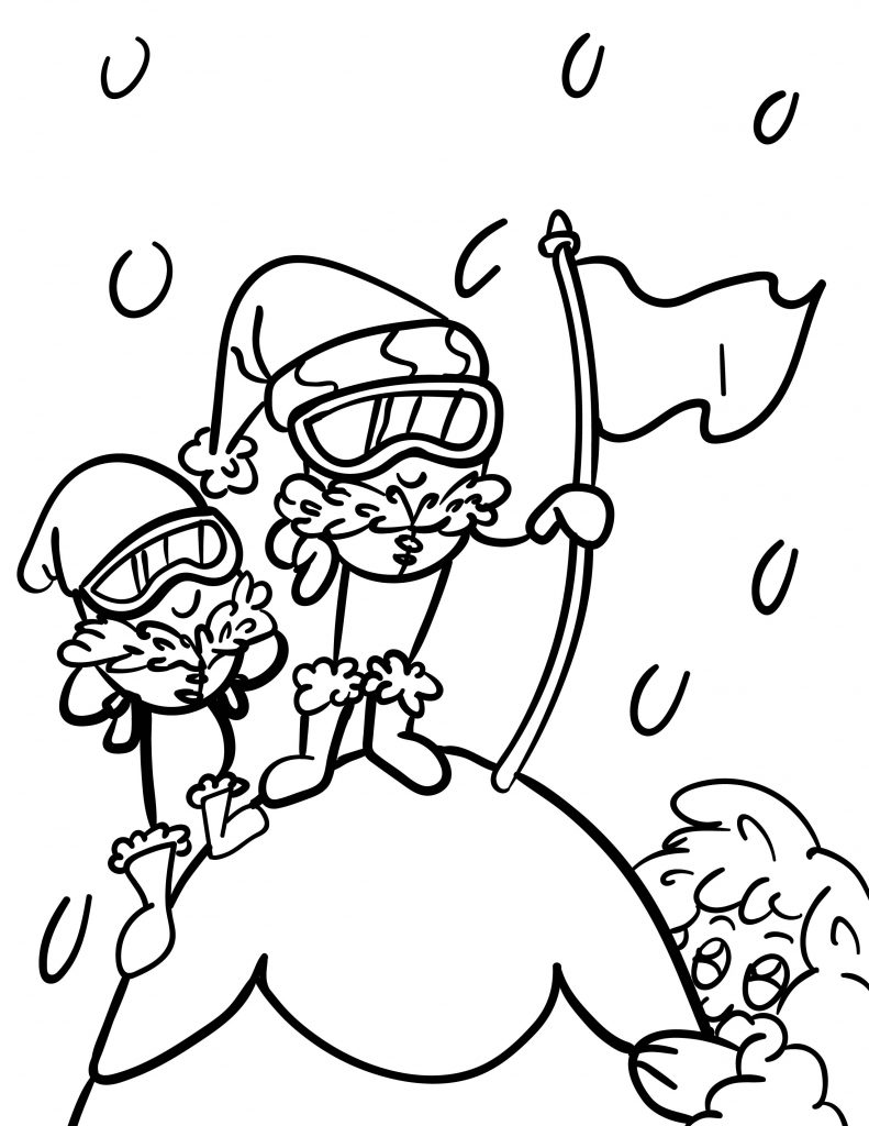 Waffle Smash coloring page of Mountaineers
