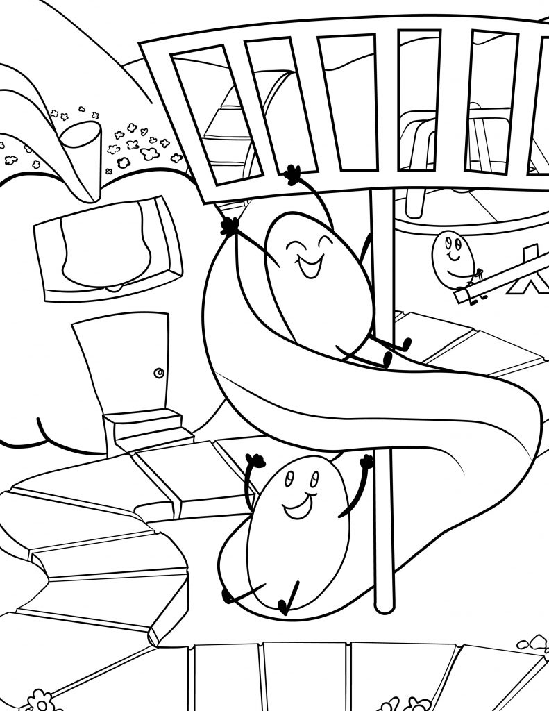 Waffle Smash coloring page of Playground