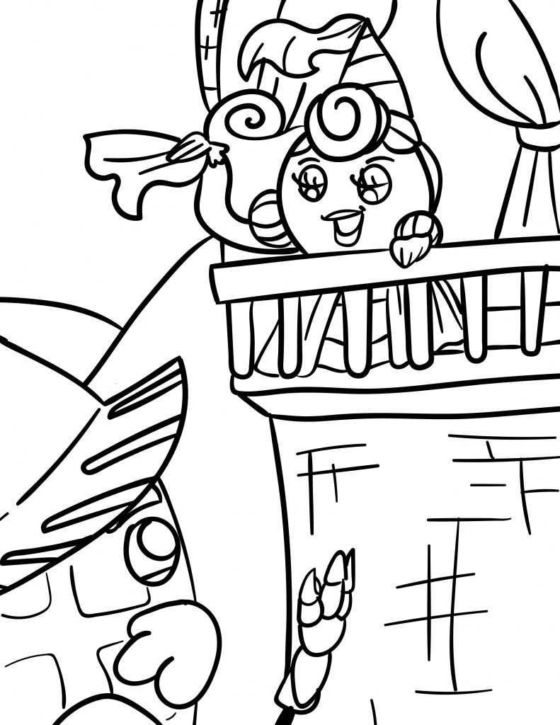 Waffle Smash coloring page of Princess