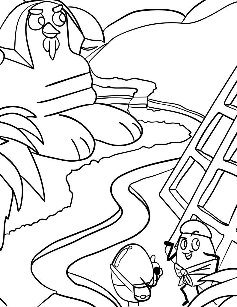 Waffle Smash coloring page of Sahara