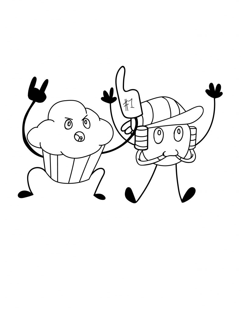 Waffle Smash coloring page of Two Boys